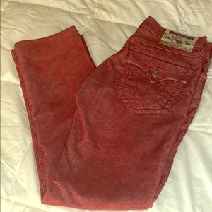 True Religion Corduroy Straight Fit Men's Jeans